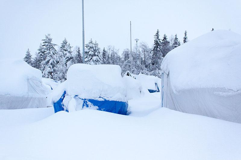 Stora mängder snö väntas