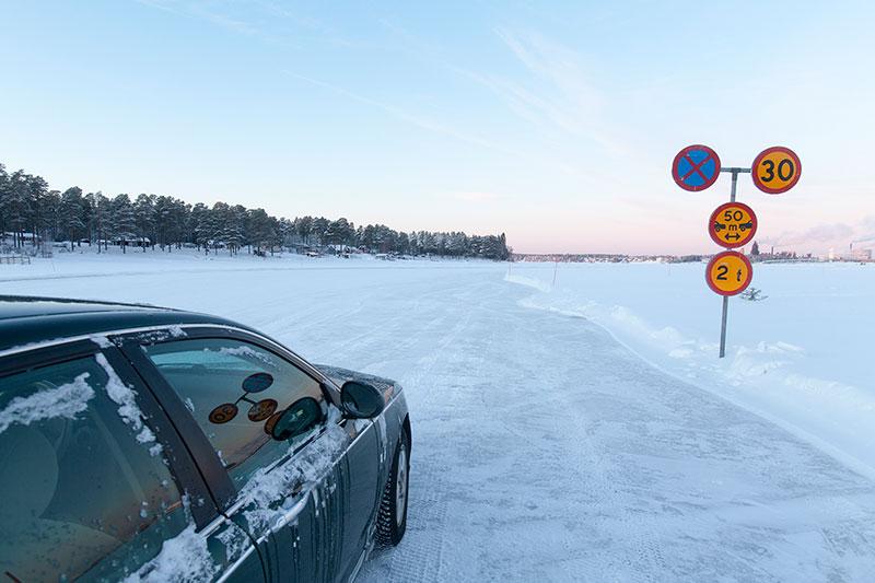 Isvägen till Sandön öppen