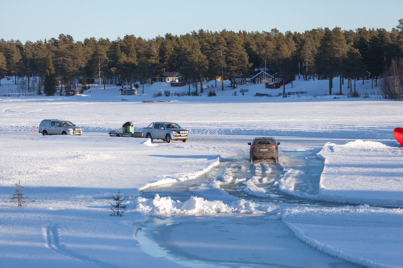 Isvägarna till Sandön och Junkön i Luleå skärgård stängs