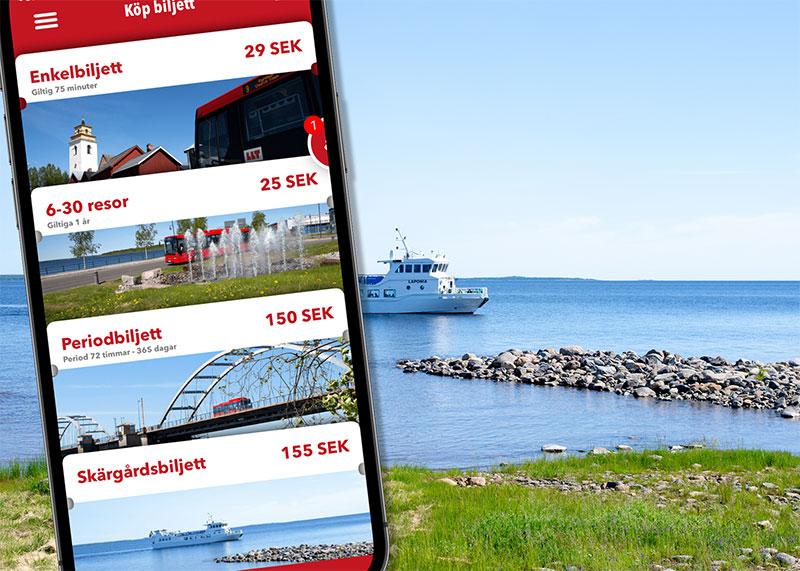 Till havs med LLT:s app och reskassa