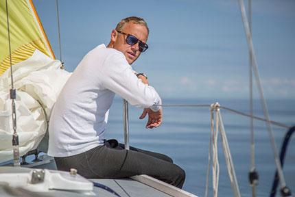 Robert Nowatzki på väg till Töre i 2016