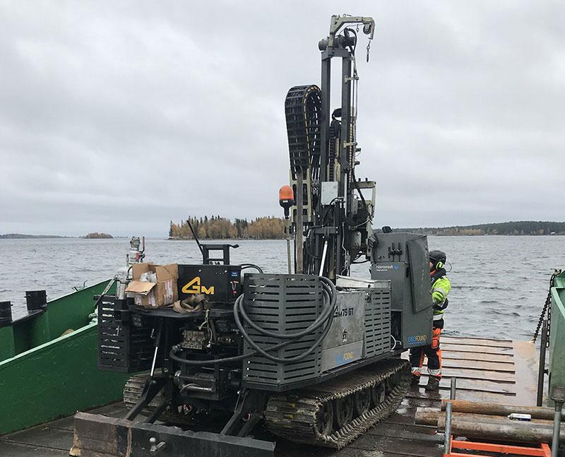 Geoteknisk undersökning inför farledsprojekt Malmporten