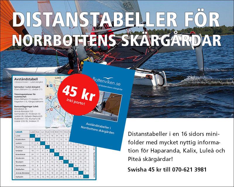 Distanstabeller för Bottenvikens skärgårdar