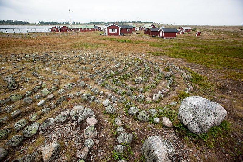 Labyrint på Stenskär i Piteå skärgård