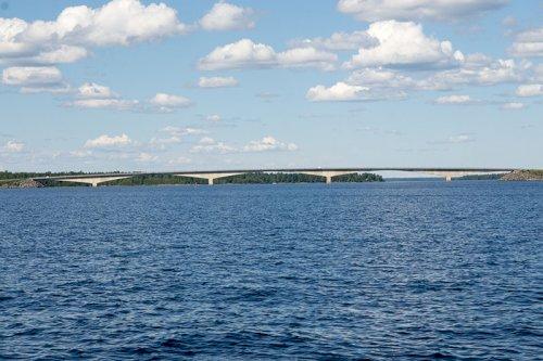 Bron till fastlandet från Seskarö, Haparanda skärgård